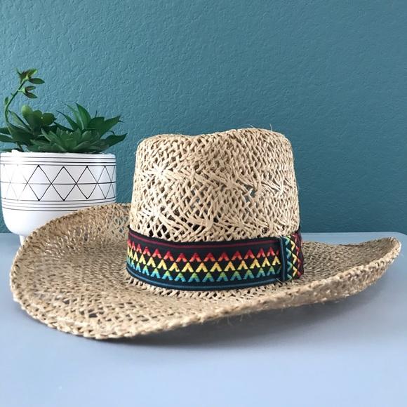 b2938114aee9fe American Hat Co. Accessories | American Hat Co Straw Rainbow Cowboy ...